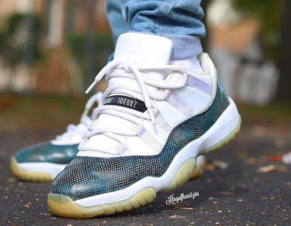 Air Jordan 11 Low Snakeskin - @kingofheartz86