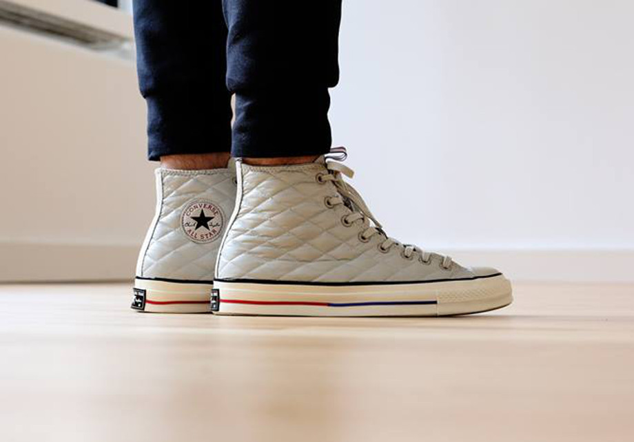 CONVERSE CHUCK TAYLOR ALL STAR 70'S DOWN JACKET White aux pieds (2)