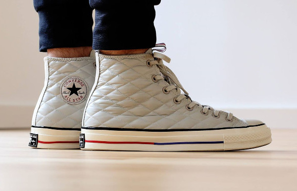 CONVERSE CHUCK TAYLOR ALL STAR 70'S DOWN JACKET White aux pieds (3)