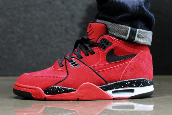 Nike Air Flight 89 Suede Gym Red (2)