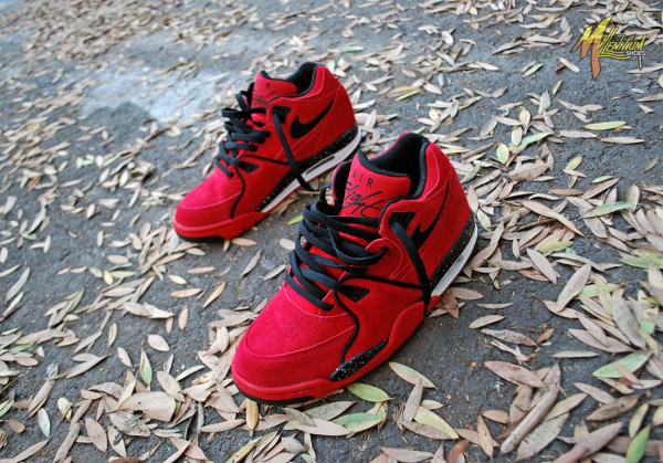 buy online a4116 fae90 Nike Air Flight 89 Suede Gym Red (4)