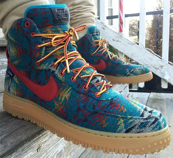 Nike Air Force 1 Duckboot ID Pendleton Warm and Dry - @gb_the_time_traveler