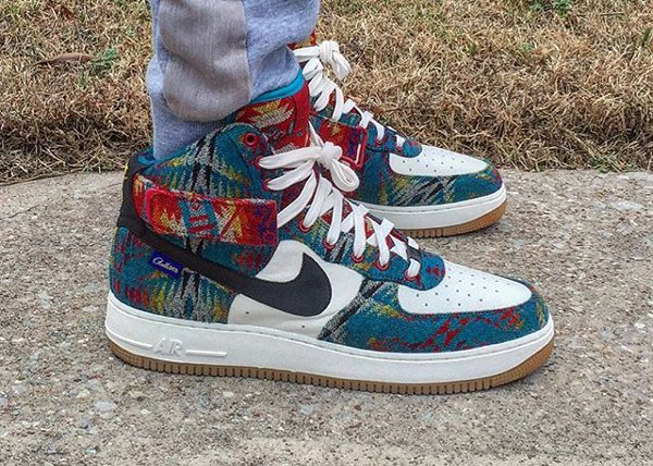 Nike Air Force 1 High ID Pendleton Warm and Dry - @drj2341
