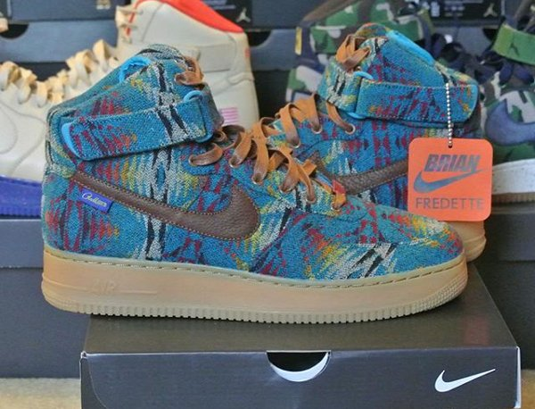 Nike Air Force 1 High ID Pendleton Warm and Dry - @i3rianf