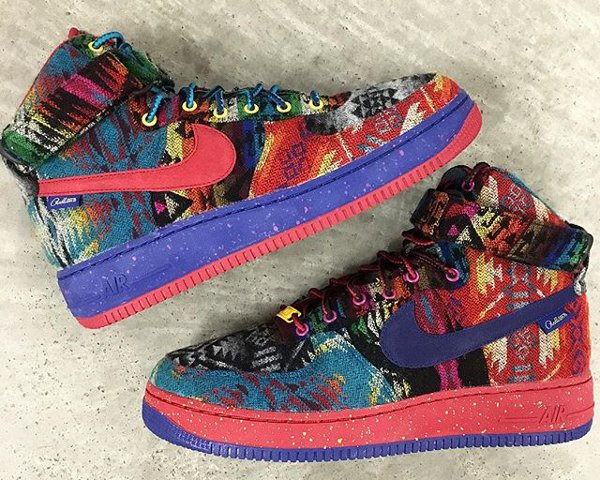 Nike Air Force 1 High ID Pendleton Warm and Dry - @zadehkicks (1)