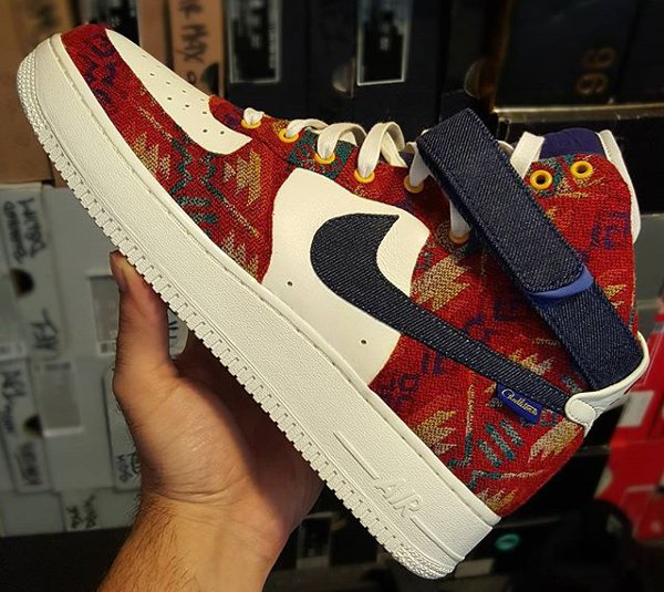 Nike Air Force 1 Mid ID Pendleton Warm and Dry - @bilanairebeats