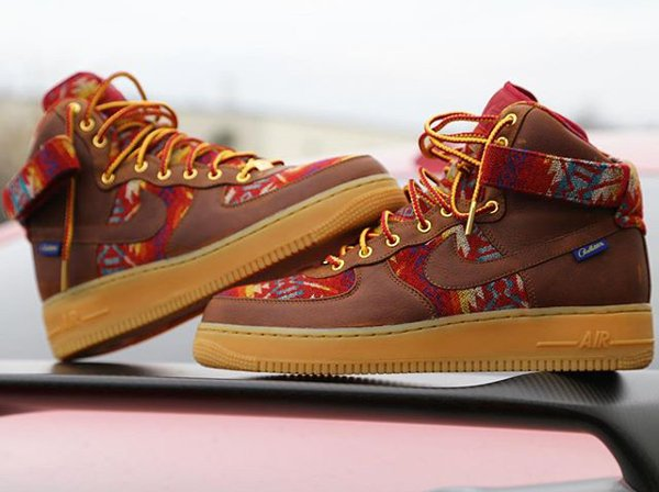 Nike Air Force 1 Mid ID Pendleton Warm and Dry - @zadehkicks