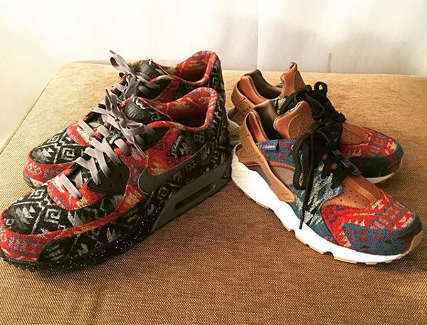 Nike Air Huarache ID Pendleton Warm and Dry - @thomas185jp