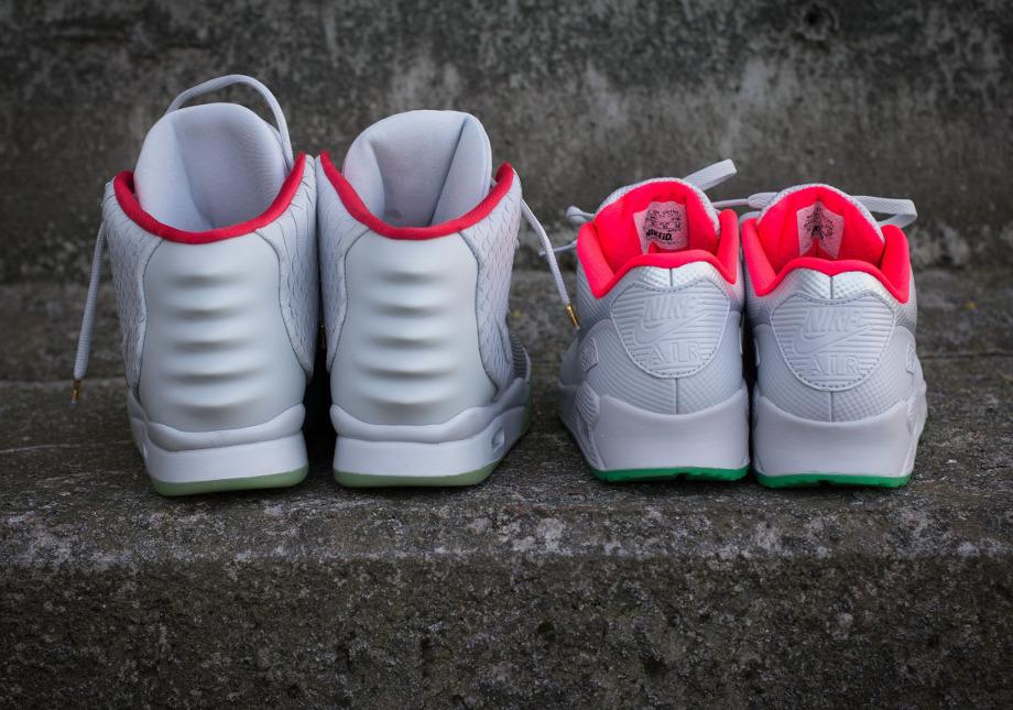Nike Air Max 90 ID x Nike Air Yeezy 2 'Pure Platinum' (10)