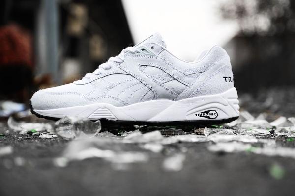 Puma Trinomic R698 'Crackle' White White