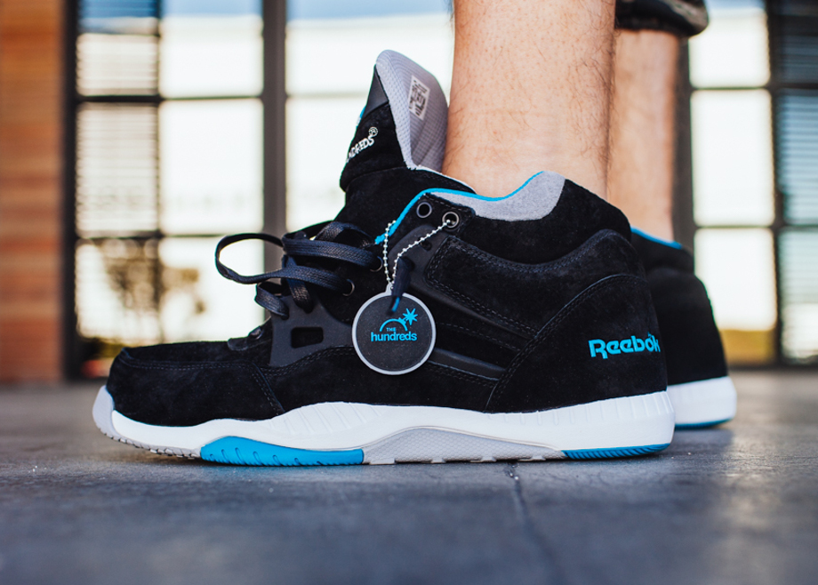 Reebok Pump AXT The Hundreds Coldwaters Black Aquatic Blue-1