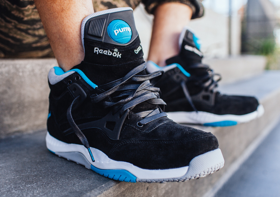 Reebok Pump AXT The Hundreds Coldwaters Black Aquatic Blue-7