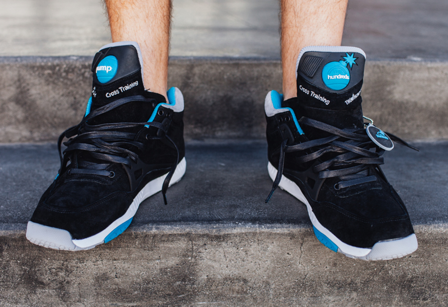 Reebok Pump AXT The Hundreds Coldwaters Black Aquatic Blue