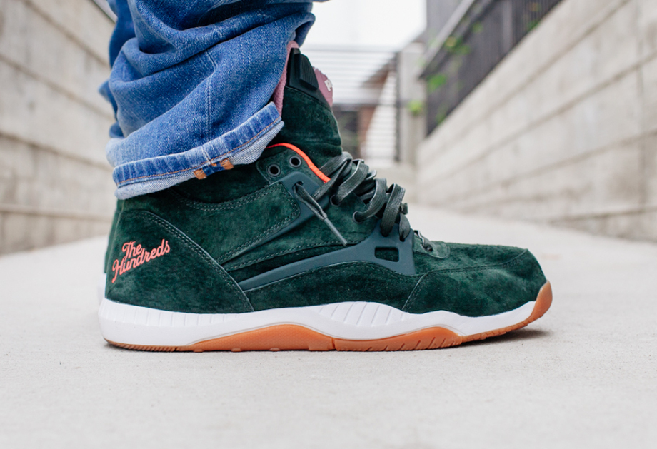 Reebok Pump AXT The Hundreds Coldwaters Dark Green-1