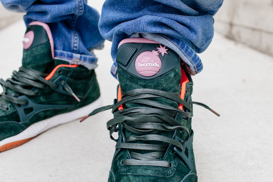 Reebok Pump AXT The Hundreds Coldwaters Dark Green-2