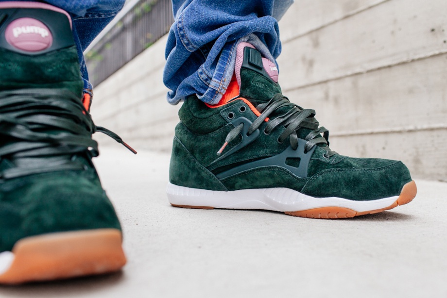 Reebok Pump AXT The Hundreds Coldwaters Dark Green-3
