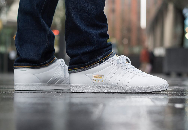 Adidas Gazelle OG blanc et or (doree) (1)