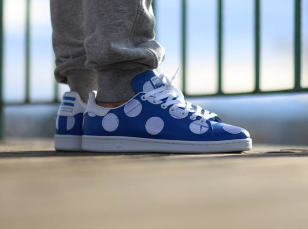 Adidas Stan Smith x Pharrell Williams 'Big Polka Dots' bleu (5)