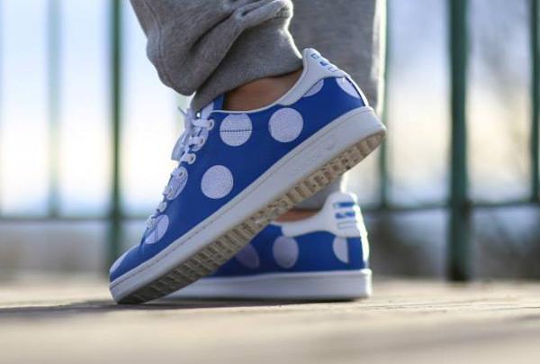 Adidas Stan Smith x Pharrell Williams 'Big Polka Dots' bleu (6)