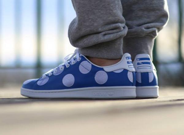Adidas Stan Smith x Pharrell Williams 'Big Polka Dots' bleu (7)