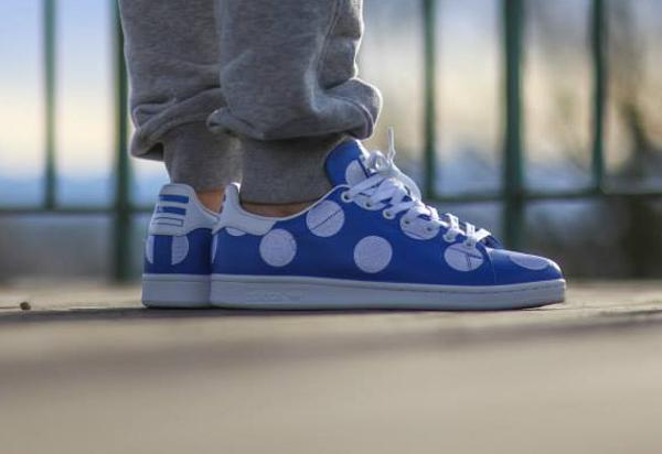 Adidas Stan Smith x Pharrell Williams 'Big Polka Dots' bleu (8)