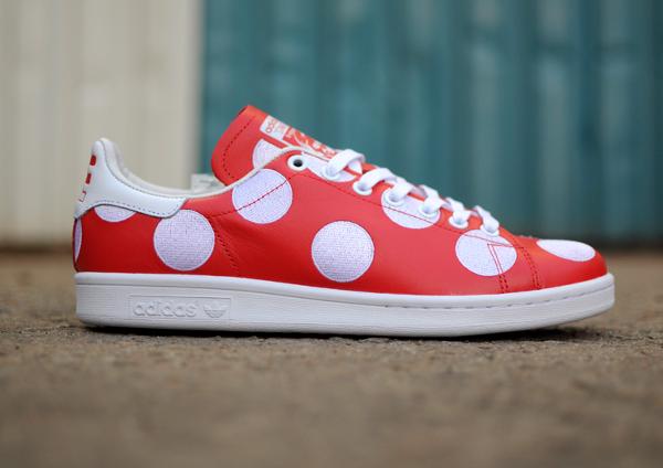 Adidas Stan Smith x Pharrell Williams 'Big Polka Dots' rouge (2-1)