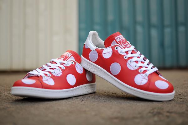 Adidas Stan Smith x Pharrell Williams 'Big Polka Dots' rouge (2)