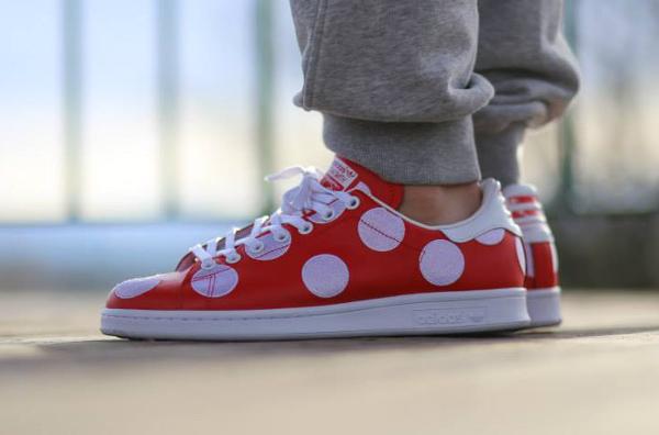 Adidas Stan Smith x Pharrell Williams 'Big Polka Dots' rouge (3)