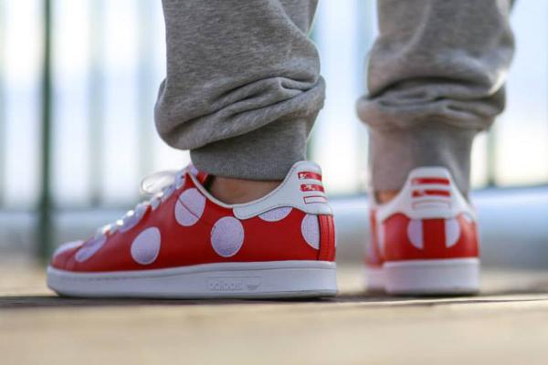 Adidas Stan Smith x Pharrell Williams 'Big Polka Dots' rouge (4)
