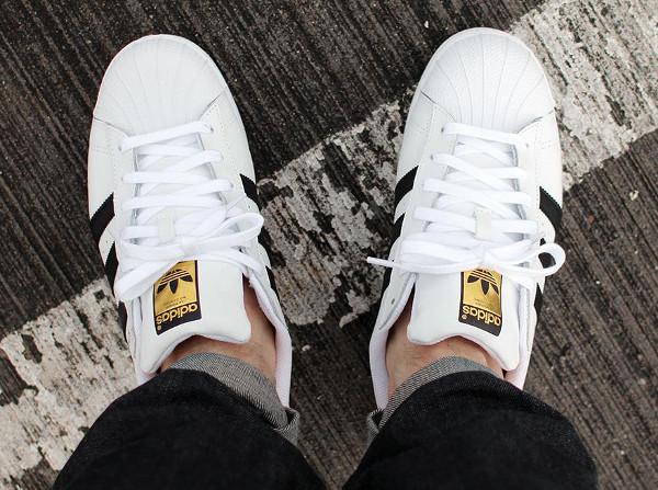 Adidas Superstar 80 blanc et noir (2)