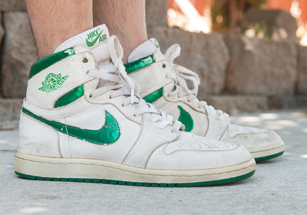 Air Jordan 1 High OG White Metallic Green (1985) - Rolo Tanedo Jr