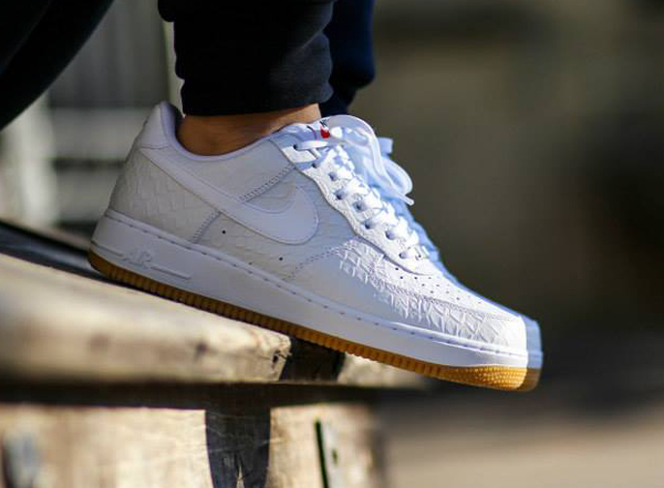 air force 1 croco blanche