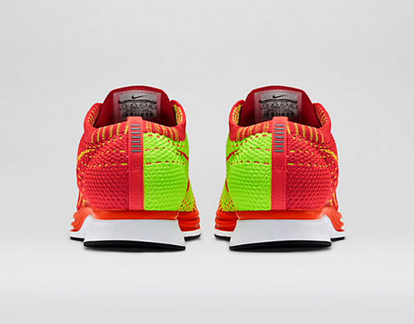 Nike Flyknit Racer (Bright Crimson & Volt) (1)