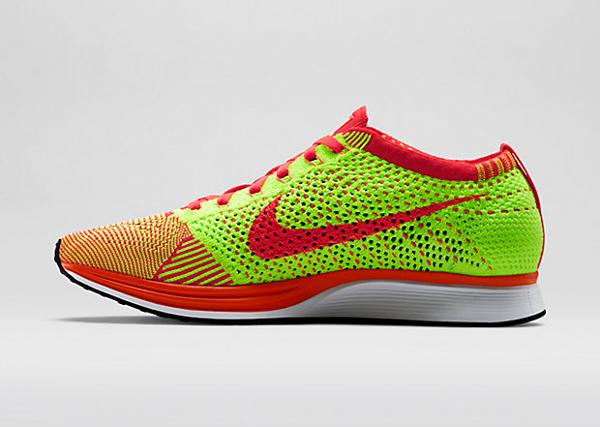 Nike Flyknit Racer (Bright Crimson & Volt) (3)