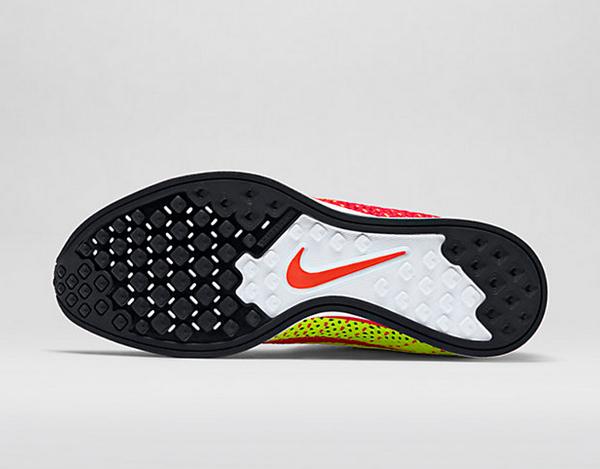 Nike Flyknit Racer (Bright Crimson & Volt) (5)