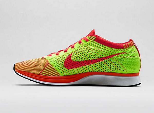 Nike Flyknit Racer (Bright Crimson & Volt) (6)