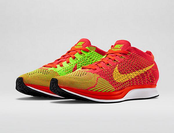 Nike Flyknit Racer (Bright Crimson & Volt) (7)