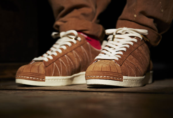 superstar adidas marron