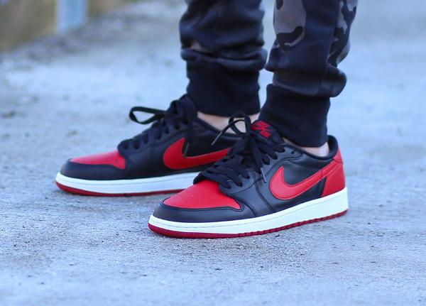 air jordan 1 low noir rouge