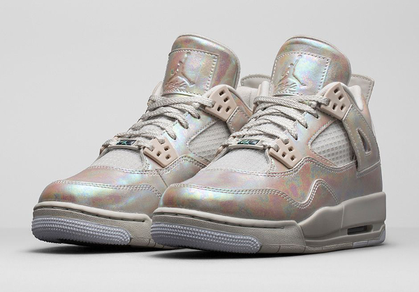 Air Jordan 4 GS Pearl Iridescent (irisée) photo officielle (1)