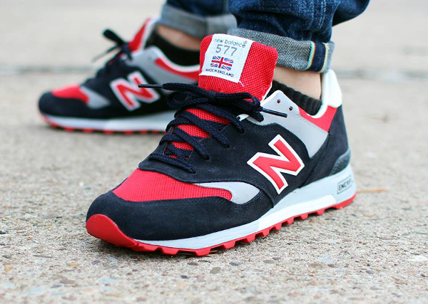 New Balance 577 'Navy Red' (made in england) aux pieds (1)