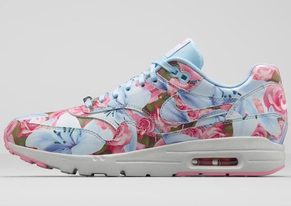 Nike Air Max 1 Ultra City Floral Paris (fleurs lys & roses) (3)