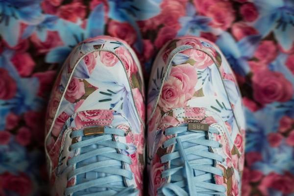Nike Air Max 1 Ultra City Floral Paris (fleurs lys & roses) aux pieds (2)