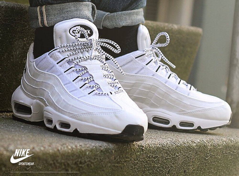 nike air max 95 triple white homme