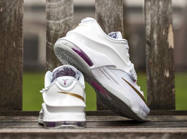 Nike KD 7 'Aunt Pearl' (White Metallic Gold Pink) (1)