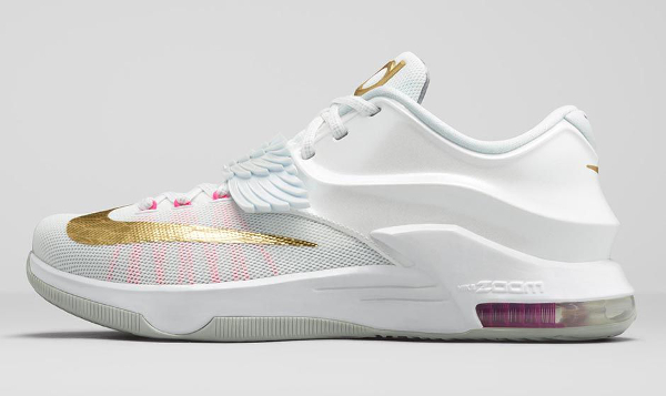 Nike KD 7 'Aunt Pearl' (White Metallic Gold Pink) photo officielle (2)