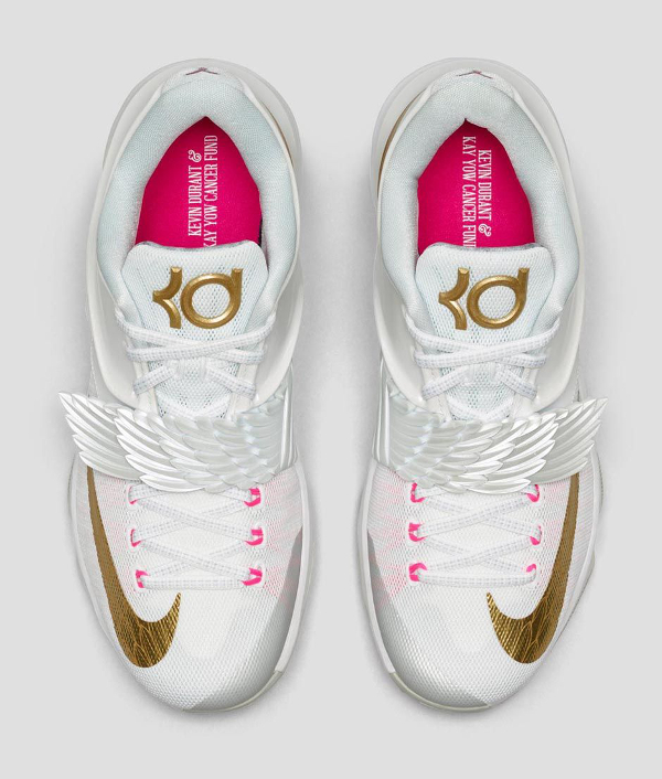Nike KD 7 'Aunt Pearl' (White Metallic Gold Pink) photo officielle (3)