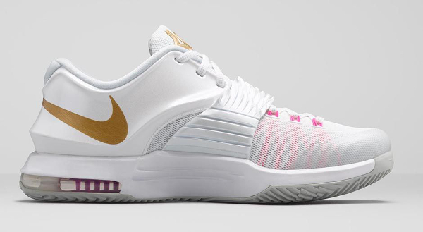 Nike KD 7 'Aunt Pearl' (White Metallic Gold Pink) photo officielle (5)