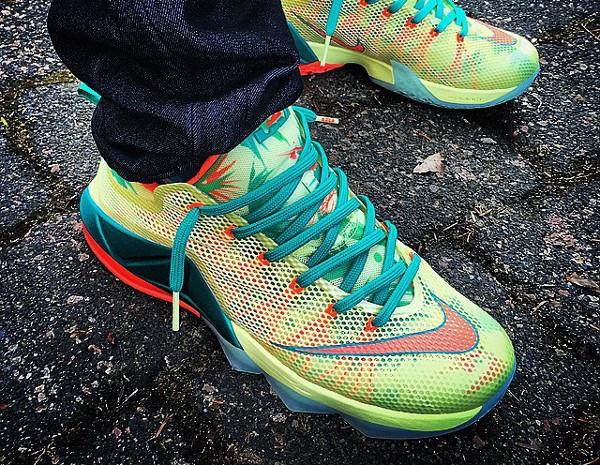 Nike Lebron 12 Low 'LeBronold Palmer' aux pieds