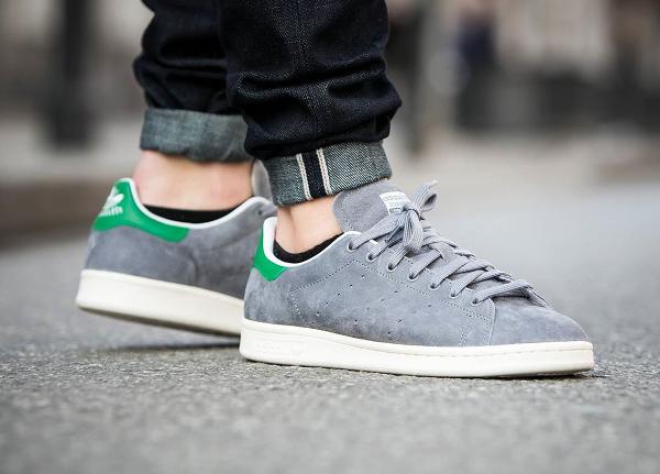 Adidas Stan Smith Suede 84 Lab (Grey White) (4)